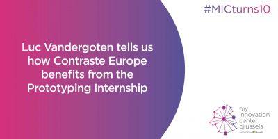 Luc Vandergoten tells us how Contraste Europe benefits from the Prototyping Internship