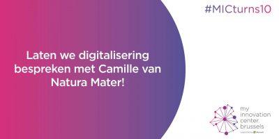 Laten we digitalisering bespreken met Camille van Natura Mater!